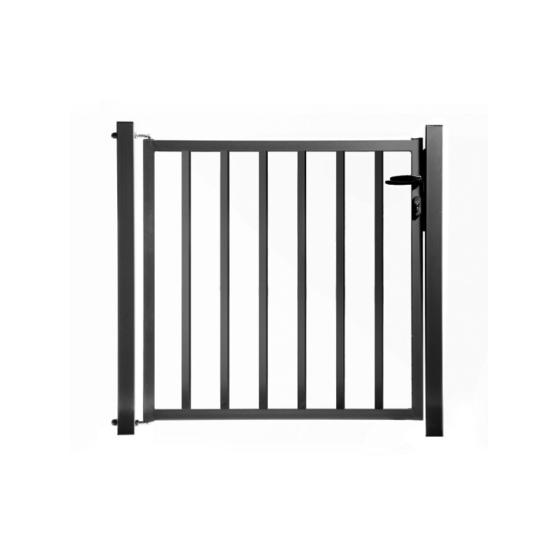 Portillon de jardin remplissage barreaux anthracite for Portillon jardin gris