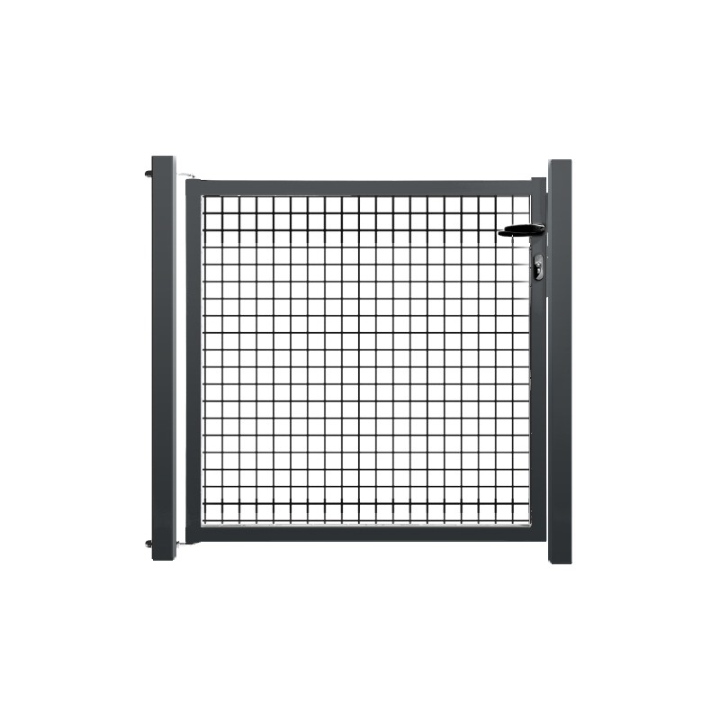 Portillon de jardin grillag anthracite for Cloture jardin avec portillon