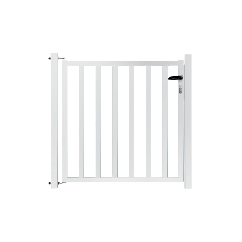 Portillon de jardin remplissage barreaux blanc for Portillon de jardin pvc