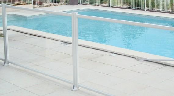 Barrières piscine DIAMANT - Panneau transparent