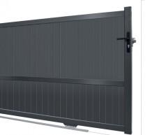 prix portail coulissant aluminium 4m portail coulissant en aluminium jena x cm portail. Black Bedroom Furniture Sets. Home Design Ideas