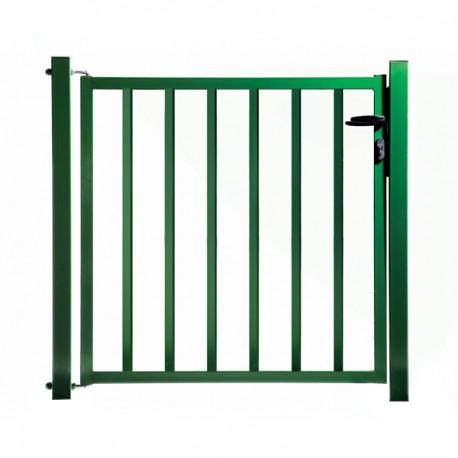 Portillon de jardin remplissage barreaux vert for Portillon en fer vert