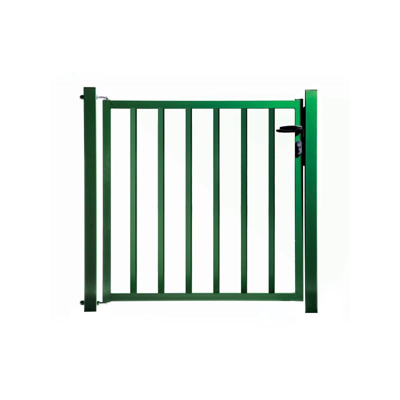Portillon de jardin remplissage barreaux vert for Portillon jardin 1m50