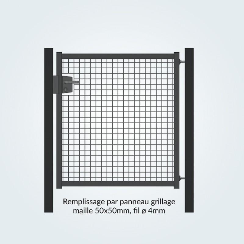 Portillon en acier s rie industriel remplissage grillage for Portillon en grillage