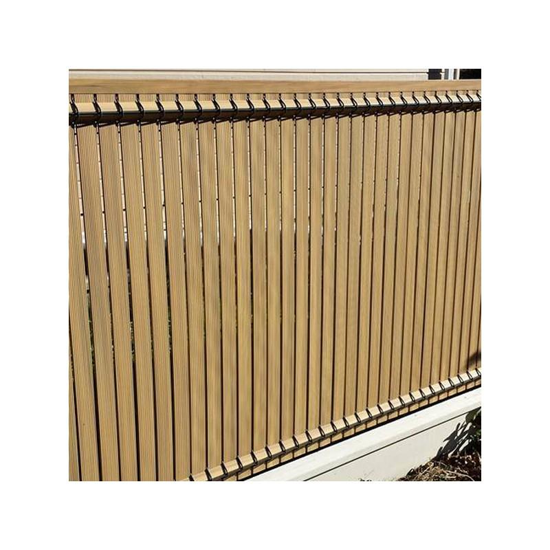 Occultation kit pvc couleur ton bois pour panneaux rigides for Pvc couleur bois
